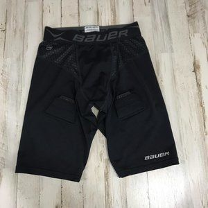 Bauer Boys Compression Shorts Jock Youth XL Black